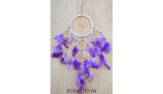 glass beads feather nylon string dream catcher wall hanging decoration