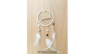 hanging decoration dream catcher cutting glass feather