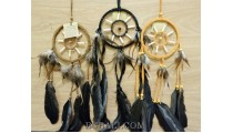 indonesian dream catcher feathers leather suede handmade