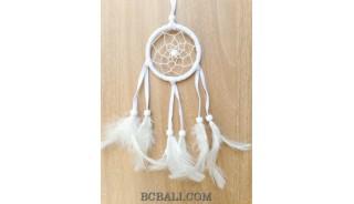 keyring feather dream catcher accessories bali design white