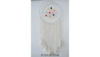 large dream catcher long net feathers handmade bali