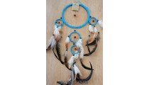 leather 5circle dream catcher feather combination indonesia