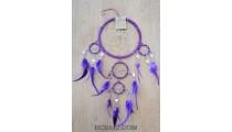 mirror glass bead win chimes dream catcher feather purple