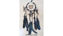native american indiana style dream catcher with bone and feathers black