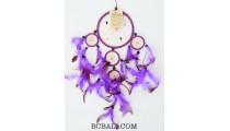 purple color dream catcher multi circle wall decoration ornament