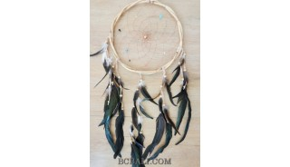 rattan circle dreamcatcher handmade wind chimes home decor