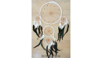 wind chimes dream catcher 5circle pendant feather bali handmade