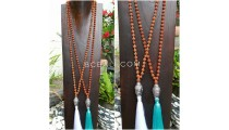 full rudraksha buddha head large necklaces pendant tassel prayer design