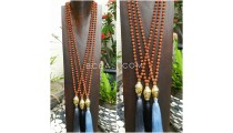 golden chrome buddha head prayer necklace tassels mala rudraksha