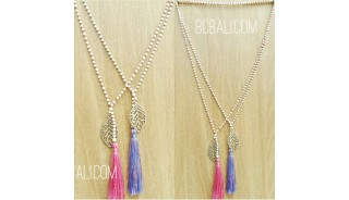 bali stone beads necklace tassels charms leaves fashion wholesale price