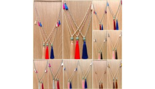 bead larva stone tassels necklace wholesale price 50 pieces shipping free