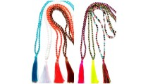 shipping free 50 pieces of necklaces tassels crystal bead long strand