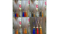 elephant bronze golden caps tassels necklaces crystal bead long strand 50 pieces