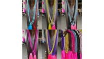 pyrus beads tassels necklaces mix color 80 pieces free shipping include