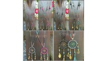 stone beads dream catcher pendant necklaces handmade free shipping 50 pieces