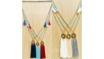 tassels necklace beads golden turquoise fashion wholesale alot free shipping