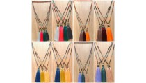 tassels necklace beads black larva stone fashion accessories wholesale price
