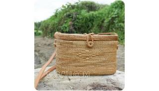 classic design cosmetic rattan straw bags full handwoven bali
