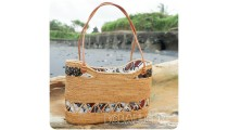 classic unique handbags beaches straw rattan handwoven fabrik