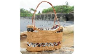 classic unique handbags beaches straw rattan handwoven fabrik