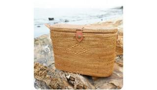 handmade straw ata handbag bucket women natural fashion
