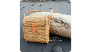 passport rattan sling bags full handmade indonesia