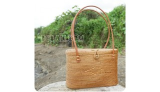 rattan straw handbags full handwoven oval unique style