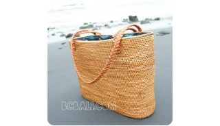 shopping beach handbags straw rattan full handwoven ethnic style