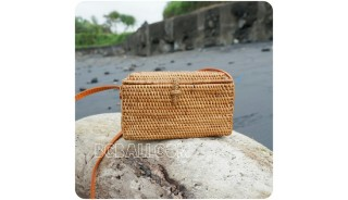 sling bags rectangle grass rattan sequare handwoven
