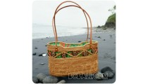 straw rattan shopping beach handmade handbags balinese design