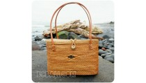 unique women handbag rattan ata oval handwoven full handmade
