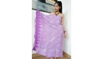 batik sarongs rayon hand stamp bali handmade purple color