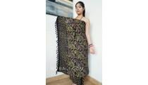 black gold color batik sarongs rayon hand stamp balinese design