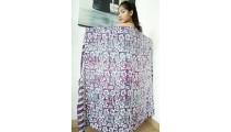 flower batik hand stamp pareo rayon sarongs from bali
