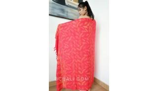 rayon batik sarongs hand stamp handmade balinese style