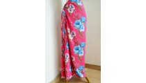 rayon sarong pareo hand printing one side big flower pattern