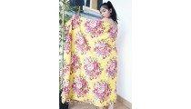 rayon sarong pareo hand printing one side flower pattern made in bali