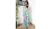 rayon sarong pareo hand printing one side flower patterned