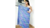 sarongs batik rayon hand stamp balinese products handmade blue color