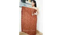 sarongs batik rayon hand stamp balinese products handmade brown