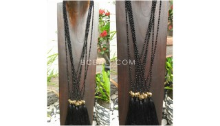 3color necklaces beads crystal elephant bronze gold pendant tassels