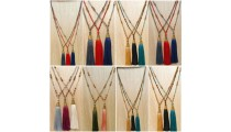 bali mix beads tassels necklace with golden caps handmade new design