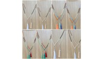 fashion necklace women accessories tassels mix beads wholesale price