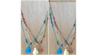 stone beads colorful design necklace tassels women fashion wholesale price