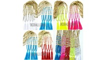 wooden bead tassels necklace handmade bali design free shipping