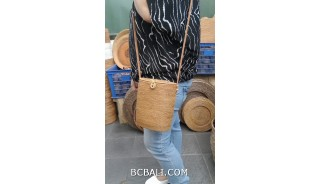 bali hand woven ata grass handmade handbag design long handle