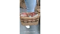 elegance handbag ata grass straw woven handmade unique design