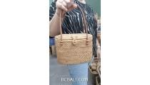exotic hand woven rattan handbag ethnic design from bali