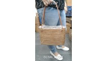 full hand woven ata straw grass handbag for women ethnic design
