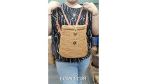 hand woven ata grass bags backpack double handle long leather
